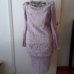 Lavender off the shoulder Macys Dress